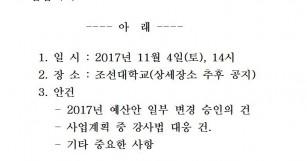 2017년 2차 임시대의원대회 소집 공고